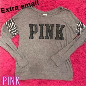 Victorias's Secret Pink Zebra Print Tee(XS)